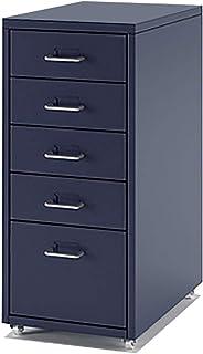 QSJY Meubles de rangements à tiroirs Classeurs 5/6/8 tiroirs, tiroirs à roulettes Fichier, Classeurs en métal for Le Burea...