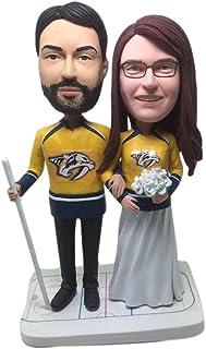 Predatori di Nashville fidanzata di nozze fidanzato predatori personalizzati figurine di argilla hockey torta nuziale Topp...