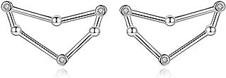Zodiac Constellation Earrings 925 Sterling Silver CZ Horoscope Stud Earrings for Women -VIKI LYNN