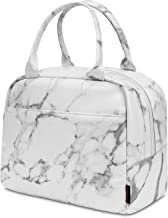 UTOTEBAG Lunch Bag for women Insulated Lunch Tote Water-resistant Thermal Lunch Box Fashionable Cooler Bag Lightweight Cooler Box for Work/Picnic/Boating/Beach/Fishing(White)