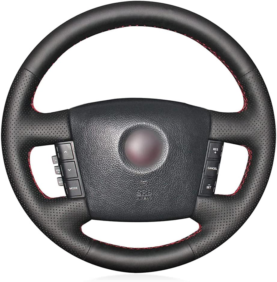 BAWAQAF Hand-Stitched Steering Wheel Cover Elegant Tucson Mall Leather Whe