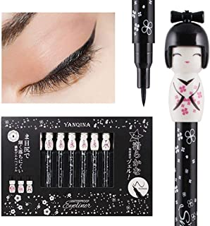 Miswilsi Kawaii Japanese Doll Style Easy To Wear Charming Cat Eye Makeup Black Liquid Eyeliner Pen Quick Drying Longlasting