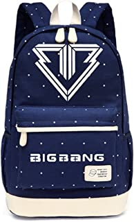 JUSTGOGO KPOP BIGBANG G-DRAGON Backpack Daypack Laptop Bag College Bag Book Bag School Bag (Dark Blue 1)