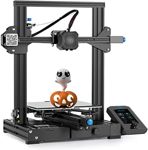 Creality Ender-3 V2 Upgraded 3D Printer with Silent Motherboard Meanwell Power Supply Carborundum Glass Platform and ...