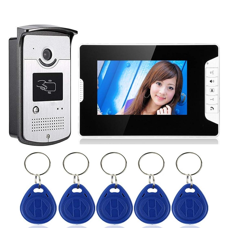 JINPENGPEN 7 inch Intelligent Video doorbell Telephone intercom System Video Door Night Vision Function Electronic Control Unlock Home Monitoring