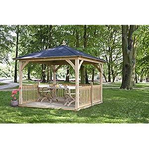 Pabellón Palma con techo de madera con o sin muebles, carpa de madera, equipamiento: con muebles: Amazon.es: Jardín