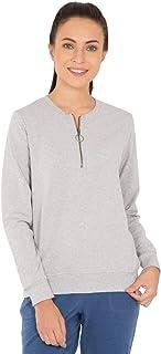 Jockey Women's Sweatshirt, Light Grey Melange
