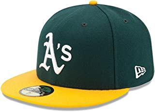 New Era Mens 5950 Fitted Oakland Athletics Home Cap