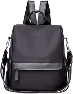 Kingrock Anti-Theft Women Waterproof Nylon Backpack Travel Rucksack Shoulder Bag (Black)