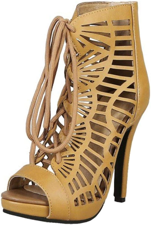 KemeKiss Women Retro Summer Bootie shoes Stiletto Heels
