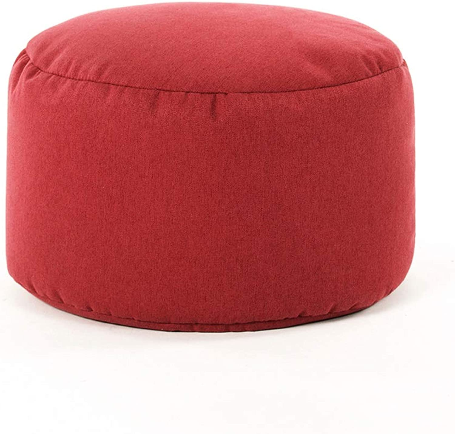 LCTCDY Cloth Footstool Round Cushion Cushion Modern Simple Chair Stool Removable Linen Cover (Optional color) (color   D)