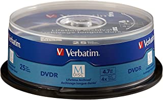 Verbatim M-Disc DVD-R 4.7GB 4X with Branded Surface - 25pk Spindle - 98908