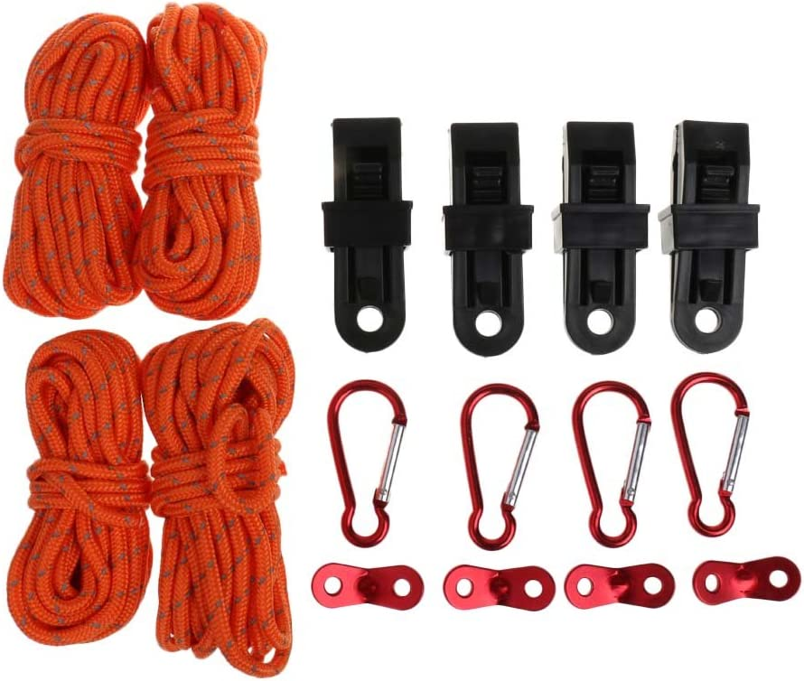 Milageto 10 Pieces of Reflective 2021 model Camping with Rope Financial sales sale Car Tent