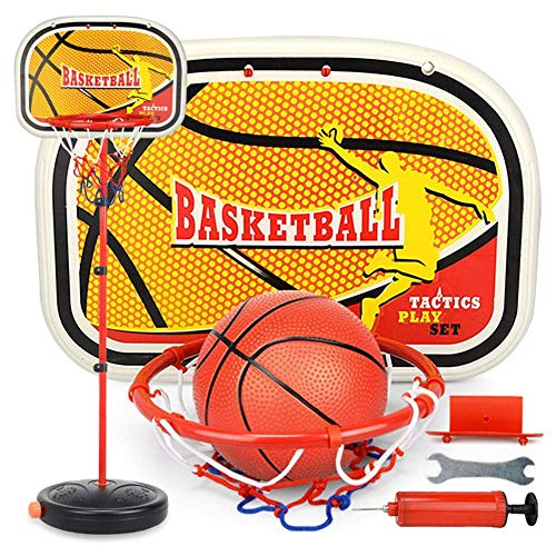 NMBC Basketballkorbset Einstellbarer Basketballkorb Tragbarer Basketballkorb mit Kugel und Pumpe für alle Basketballfans-150cm A
