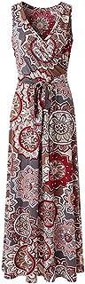 MURTIAL Women's Loose Long Dress Floral Sleeveless Maxi Dress Casual Summer