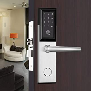BoTaiDaHong Electronic Door Lock Featuring SmartCode Deadbolt Smart Door Lock Satin Smart Bluetooth Password CardsTouch Fingerprint Password Keypad Cards Finger Touch Password Keypad Card Unlock