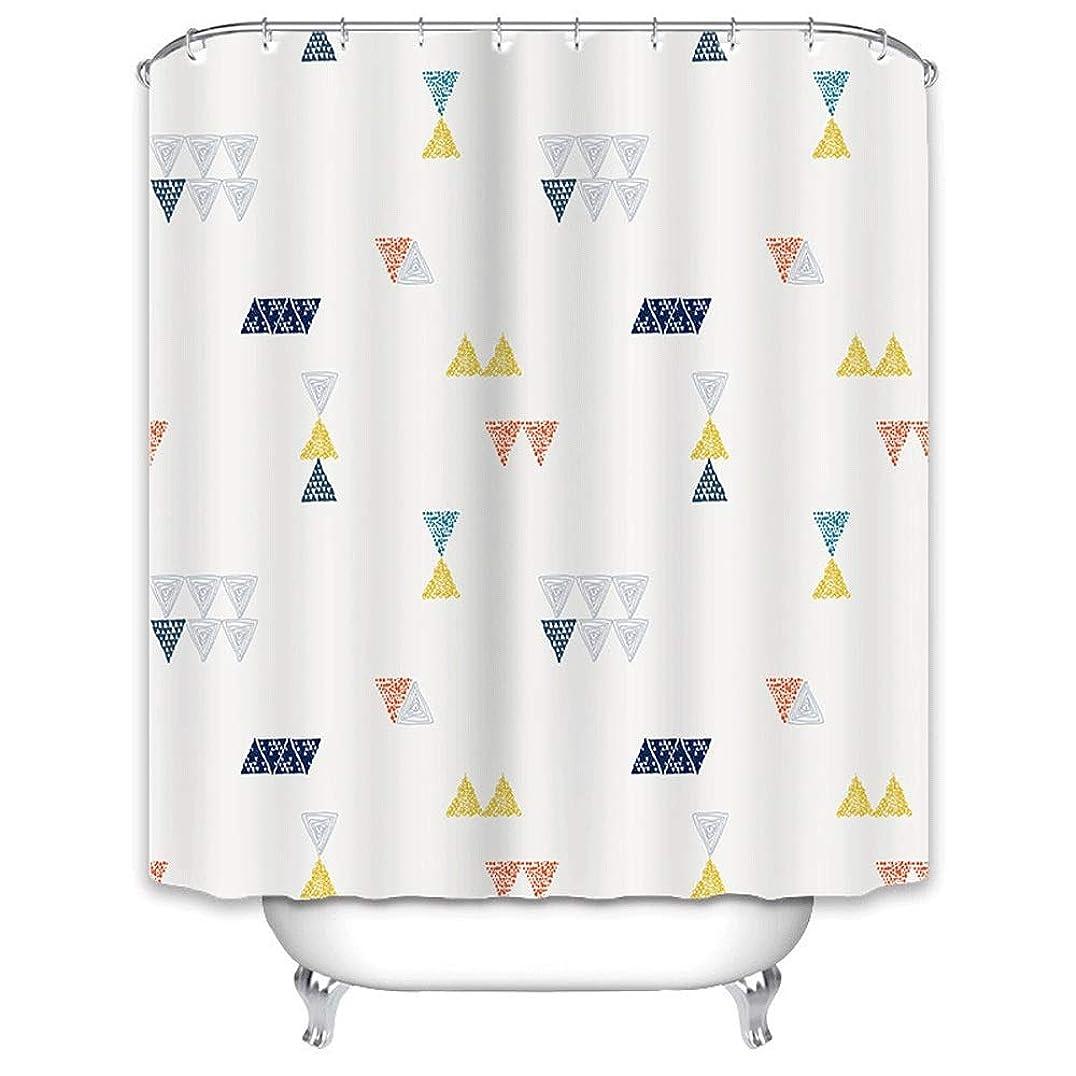 過激派ヒット打撃シャワーカーテン 浴室のためのホックが付いている防水ポリエステルシャワー?カーテン (Color : Image color, Size : 150cmx180cm)