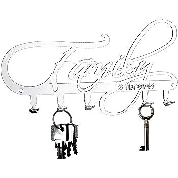Tablero de llaves Rockabella Rockabilly 6 Ganchos negro ganchos para llaves