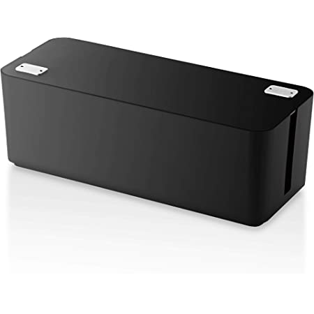 ELECOM ケーブル収納ボックス 6個口電源タップ収納 ブラック EKC-BOX001BK