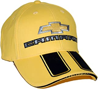 High-End Motorsports Hat for Chevrolet Camaro SS, Yellow with Rally Strips