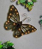Solar-Wanddekoration Schmetterling,1 Stück