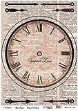 Cadence Decoupage Papier - Uhr