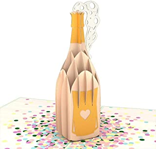 Lovepop Champagne Pop 3D Card, Popup Cards, Celebration Card, Greeting Card, Congratulations Card, 3D Cards