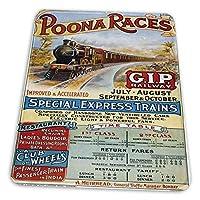 マウスパッド ゲーミングマウスパッド-プーナは偉大なインド半島鉄道ボンベイインドヴィンテージ旅行を競争します。滑り止め デスクマット 水洗い 25x30cm