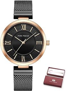 MINI FOCUS Women Quartz Watch Women's Fashion Watches with Steel Strap 3ATM Waterproof Female Wristbands for Business & Da...