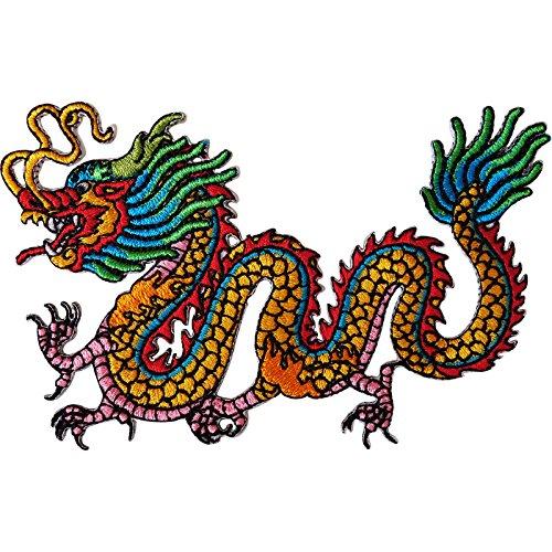 Parche bordado dragón chino planchar coser