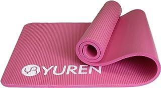 YUREN Yoga Mat Thick 1/2 Inch High Density NBR Foam Mat 72x24 Pilates Mat Non Slip for Home Gym Floor Exercise Fitness Mat