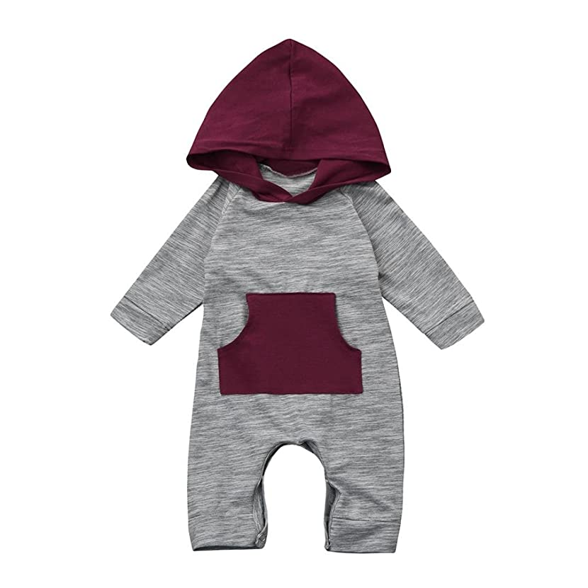 FEITONG Toddler Baby Boy Girl Hooded Romper Jumpsuit Clothes Outfits