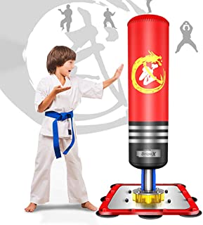 Dripex Adult & Kids Freestanding Punching Bag Heavy Boxing Bag with Suction Cup Base - Free Stand Kickboxing Bags Kick Punch Bag
