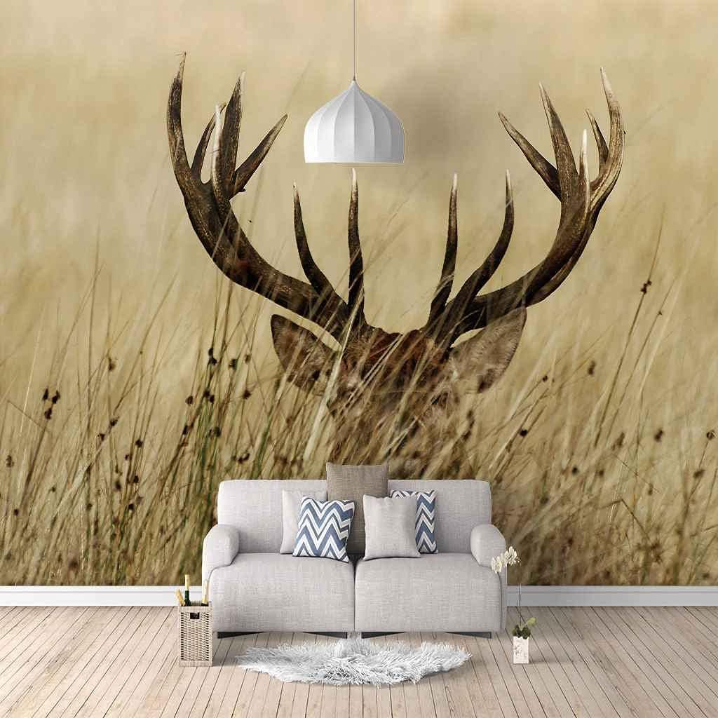 FVGKYS Wall Art Mural Custom Stickers Surprise Max 45% OFF price 3D Elk Prairie Animal