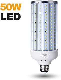 AOLARY 50 Watt(350W Equivalent) LED Corn Light Bulb,5000 Lumen 6500K,Cool Daylight White LED Street & Area Light,E26/E27 Medium Base,for Outdoor Indoor Garage Warehouse High Bay Backyard and More