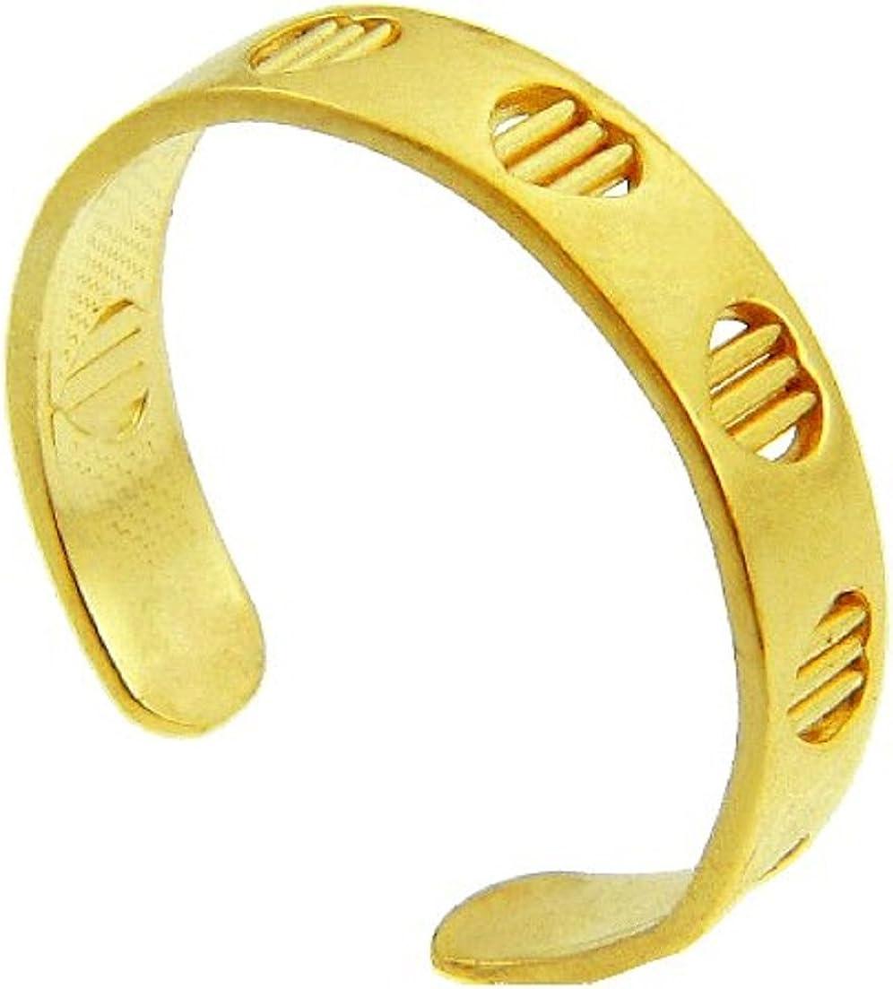Yellow Gold Heart Bar Toe Ring