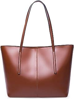 Sponsored Ad - Covelin Women's Handbag Genuine Leather Tote Shoulder Bags Soft Hot