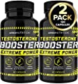 Testosterone Booster for Men - Male Enhancing Supplement with Horny Goat Weed & Tongkat Ali - Muscle Builder Enlargement Pills - Natural Test Booster Increased Desire, Energy, Stamina, Libido (2 PACK)