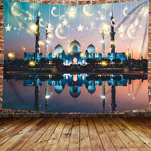 DBLLF GTYYDB1432 - Tapiz de pared árabe-noche para decoración de fiesta marroquí, telón de fondo para decoración del hogar (203 x 152 cm)