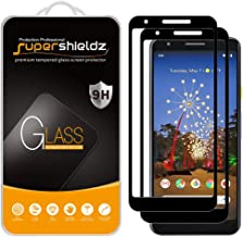(2 Pack) Supershieldz for Google (Pixel 3a) Tempered Glass Screen Protector, (Full Screen Coverage) 0.33mm, Anti Scratch, ...