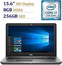 Business Dell Inspiron 15.6in HD Display Laptop PC Intel i7-7500U Processor 8GB DDR4 RAM 256GB SSD DVD-RW Backlit keyboard HDMI HD graphics 620 Webcam Bluetooth Windows 10-Gray (Renewed)