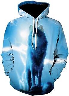メンズパーカーパーソナリティ3Dプリントスポーツウェア、軽量長袖フード付きスウェットシャツ、カップル