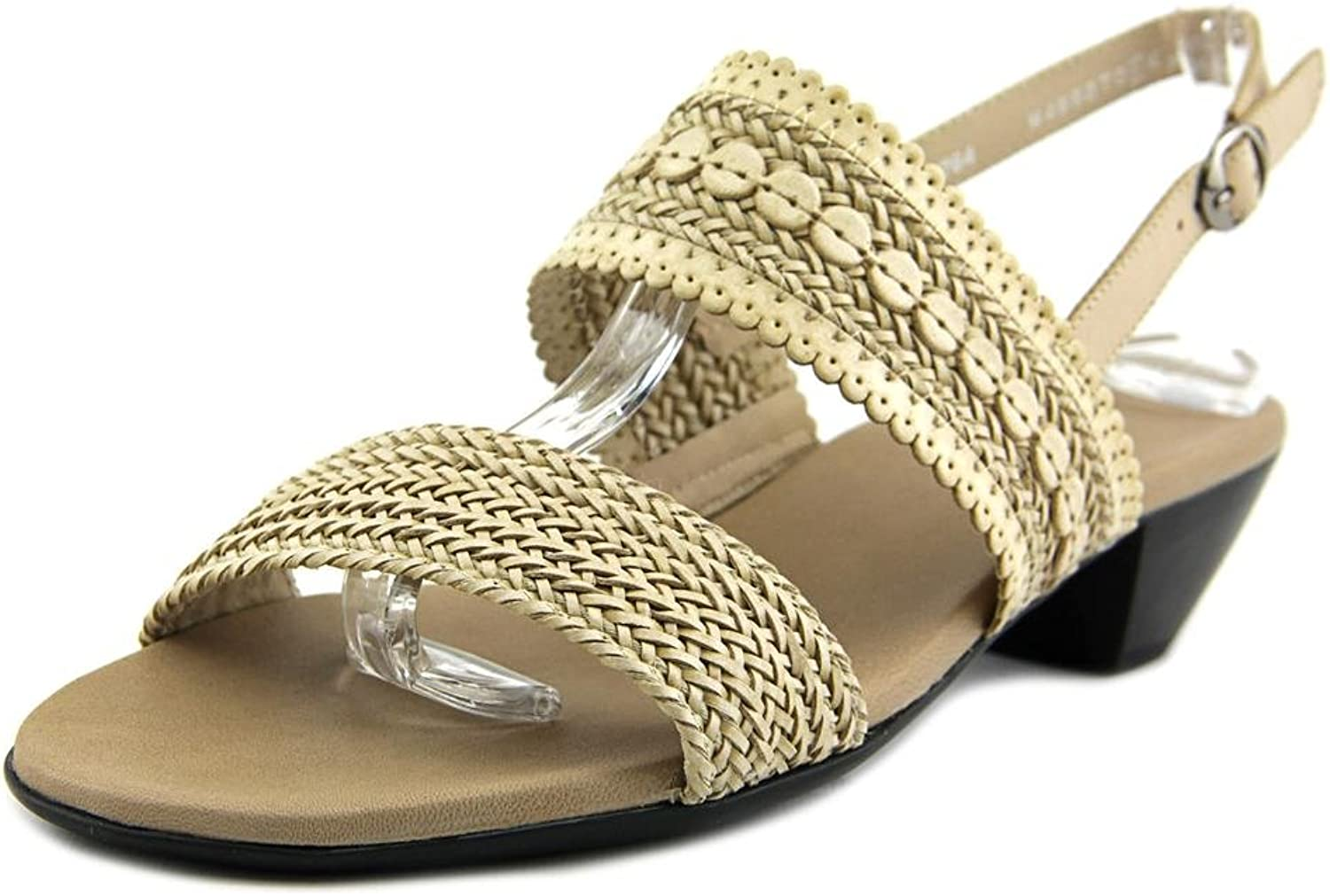 Munro Women's Mgoldcco Black Woven sandals 6 M