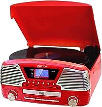 PRIXTON - Tocadiscos de Vinilo Vintage con Altavoces y