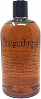 Philosophy Gingerbread Man- Shampoo, Shower Gel and Bubble Bath - 16 Ounces