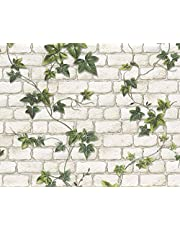 A.S. Création Papierbehang Dekora natuur eco-behang behang behang in natuursteen look 10,05 m x 0,53 m groen wit Made in Germany 980434 9804-34