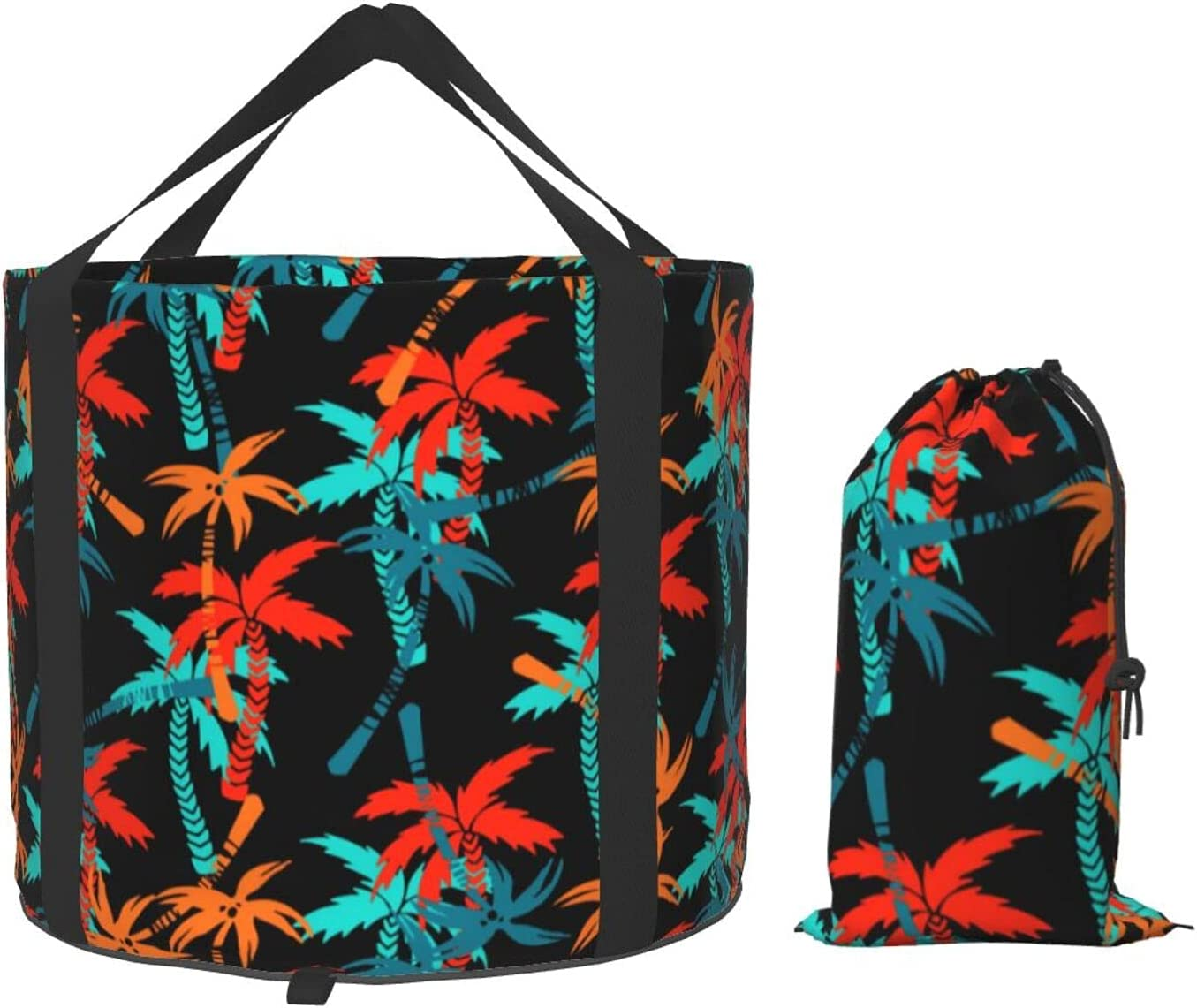 Sales results No. 1 Colorful Tropical 2021 model Coconut Tree Collapsible Bucket Multifunctiona