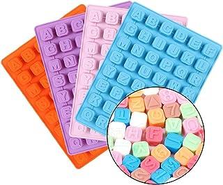 Ruikey Molde de Silicona para Fondant,Moldes de Silicona Letras,Molde para Hornear,Moldes Repostería Silicona para Decoración de Pasteles(Color al Azar)