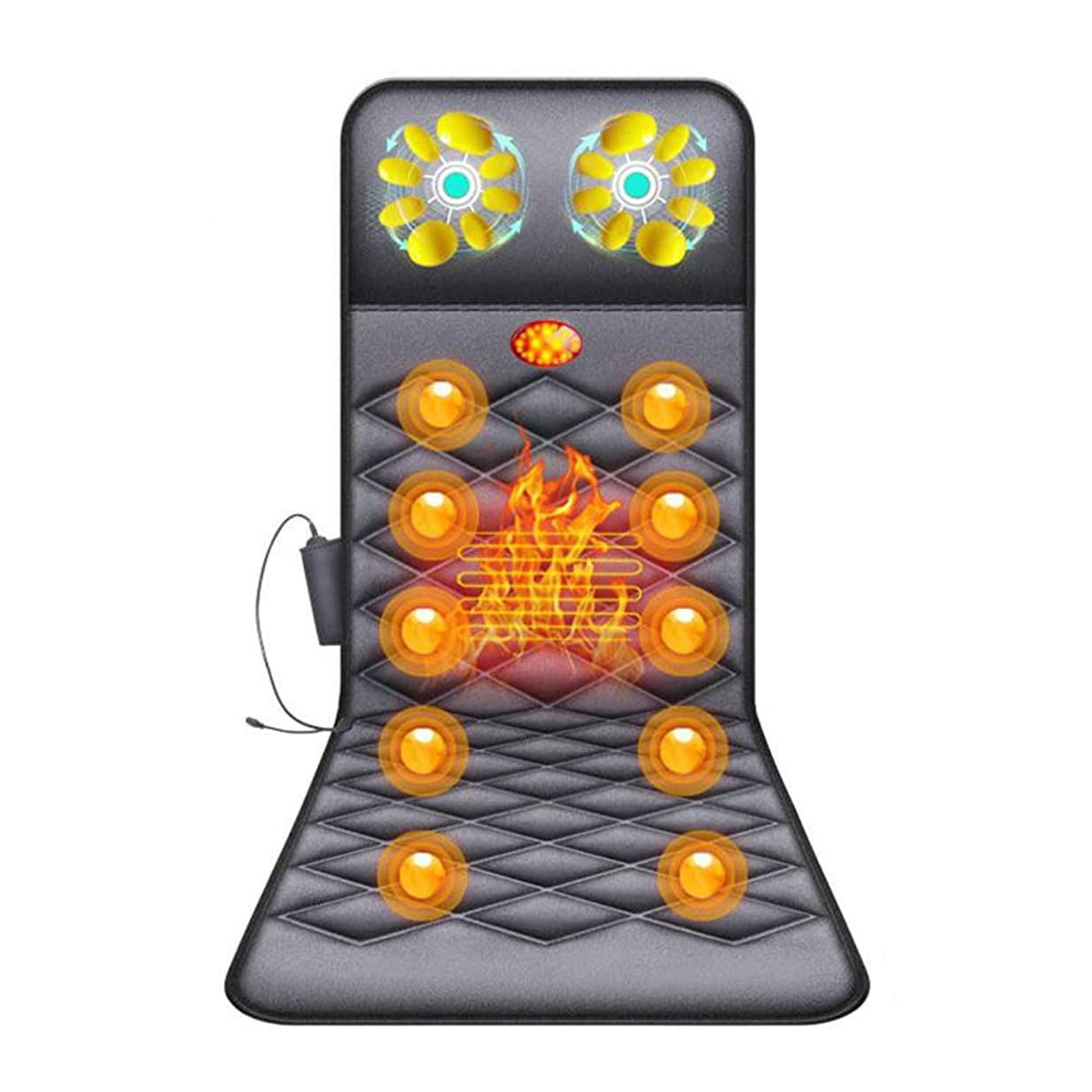 消費する見せます成り立つ背中と腰の痛みを和らげる、熱、調節可能な振動とタイミングを備えた電動多機能家庭用マッサージャー