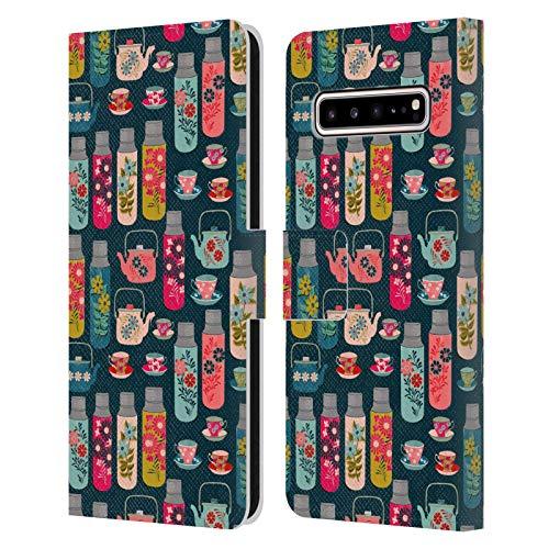 Oficial Andrea Lauren Design Frascos y Tazas de Taza Patrón de Carcasa de Cuero Tipo Libro Compatible con Samsung Galaxy S10 5G
